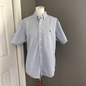 Ralph Lauren Men's Button Down Size L 100% Cotton